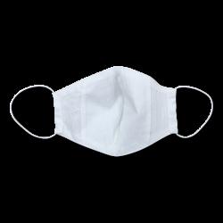 Защитная многоразовая маска Трехслойная с карманом белая